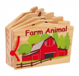 """Livre en bois """"Les animaux..."""
