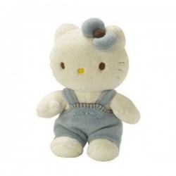Peluche Baby Hello Kitty Bleu