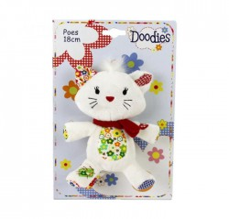 DOODIES - Doudou Chat - 18 cm